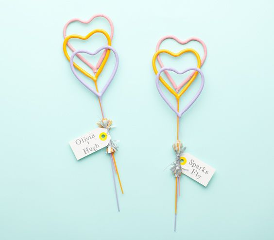 Heart Shaped Sparklers - Wedding Ideas By You