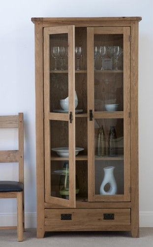 Cabos oak , glazed, display unit