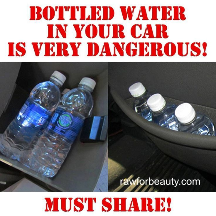 People should not drink bottled water that has been left