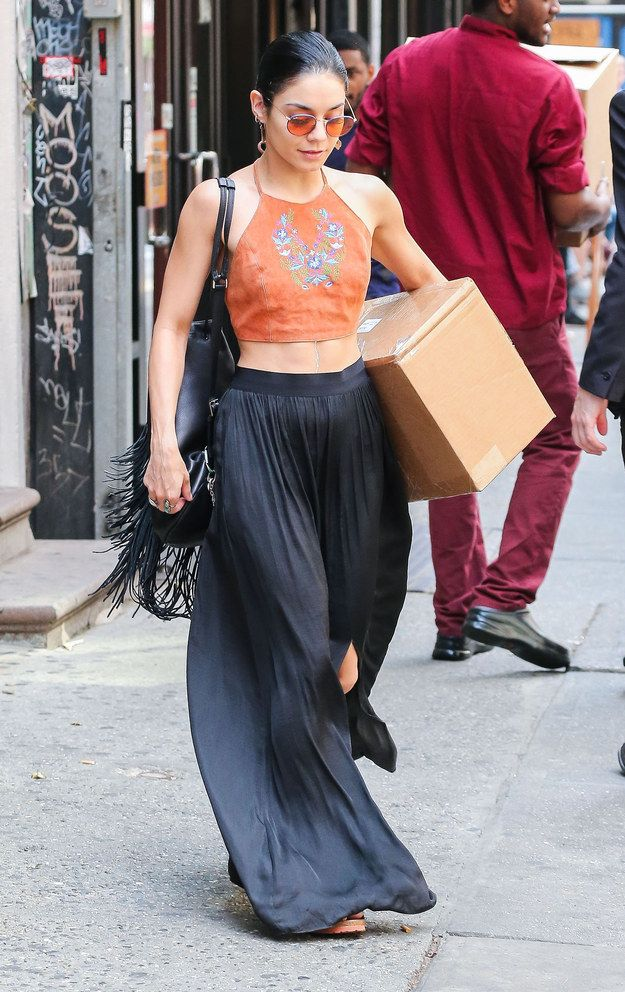 When she killed the boho fashion game while simultaneously showing off her stellar abs. | 12 Times Vanessa Hudgens' Style Was The Definition Of Flawless