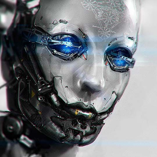 Cyborg destroyer model. They don't need to be disguised. If you see her its already too late. | Malicious Machines in 2018 | Pinterest | Cyberpunk, Robot and S…