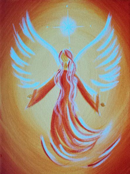 Acrylmalerei - Dein persönliches Schutzengel Bild - ein Designerstück von Dalaya bei DaWanda