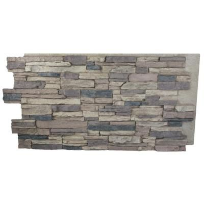 Superior Building Supplies Rustic Lodge 24 in. x 48 in. x 1-1/4 in. Faux Grand Heritage Stack Stone Panel - HD-COL2448-RL - The Home Depot