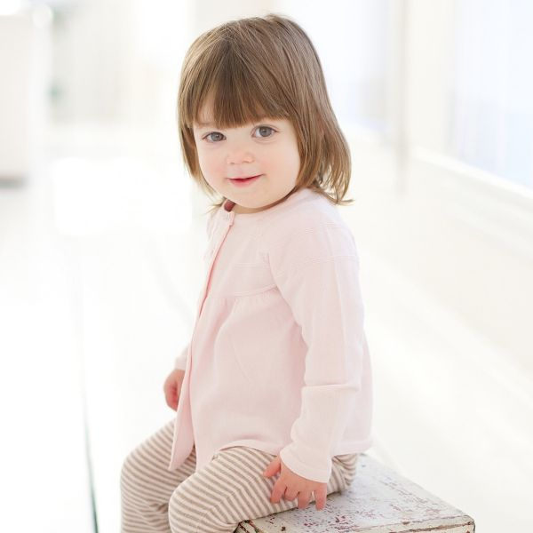 Beautiful two piece set for Spring in luxurious cotton for baby girls!