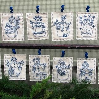Picture of Snowmen by the Dozen - Machine Embroidery Download