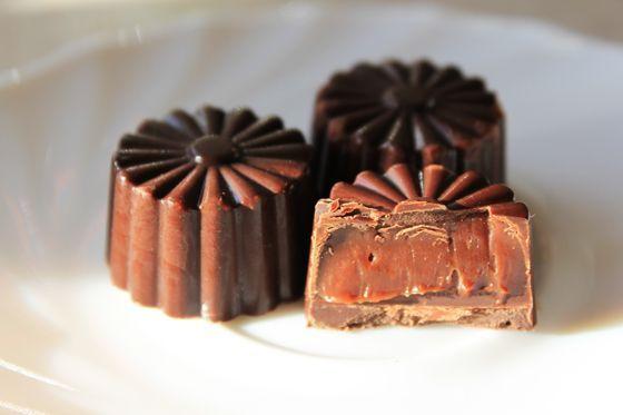 Fyldte chokolader med whiskyganache