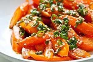 Try Roasted Carrots with Sesame Vinaigrette Recipe ...