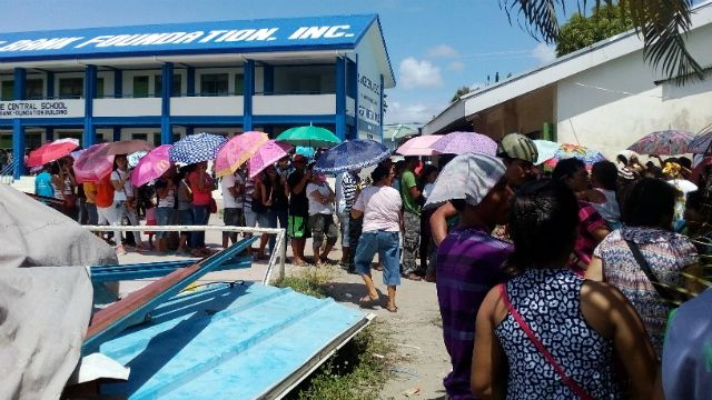 Vote-counting machines break down in Tacloban City In one voting precinct only 165 votes are cast out of the 450 registered voters due to a VCM malfunction
