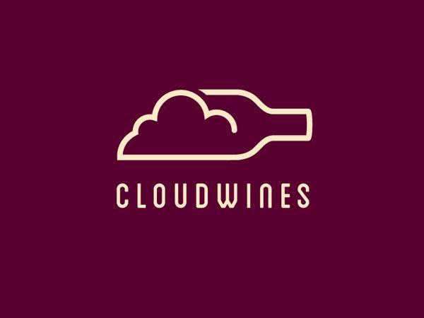 CloudWines Line Art Logo by Julien Paris #lineart #linelogos #logodesign…