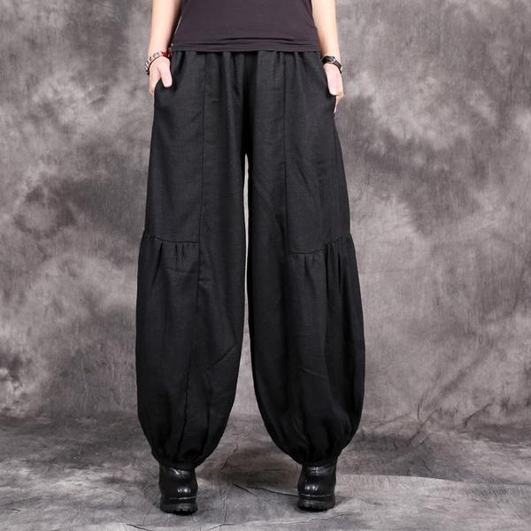 Pants - Wide Leg Black Harems
