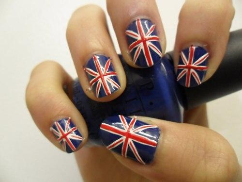 more nails: British Flag Nails, Style, Fingernails Onlin, Pretty Nails, Jack O'Connell, Beauty, Nail Design, Union Jack Nails, Diy Nails