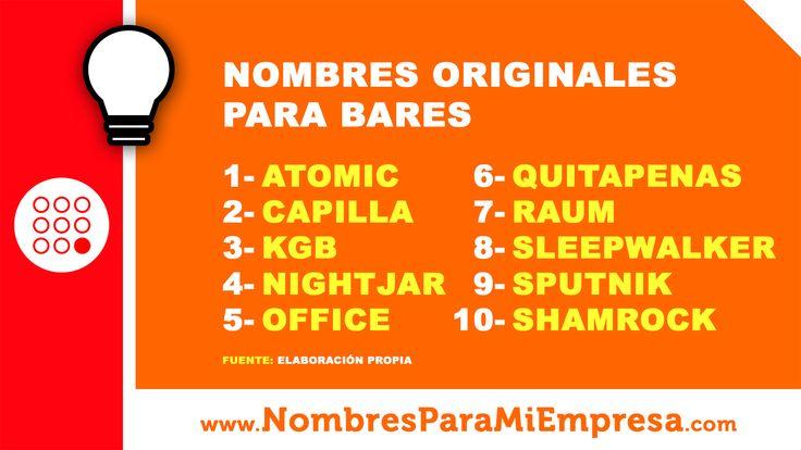 #Nombres originales para #bares. Más nombres para #pubs: http://www.nombresparamiempresa.com/tipo-de-negocio/nombres-de-bares/