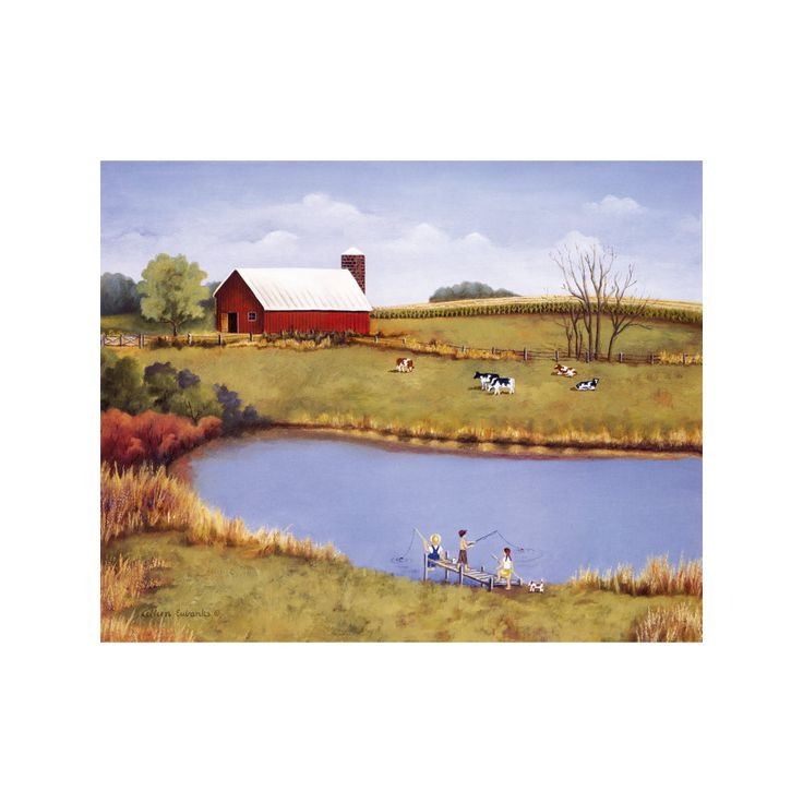 decoration countryside scenery painting printing bulk oil painting living room study classrom wall painting 05