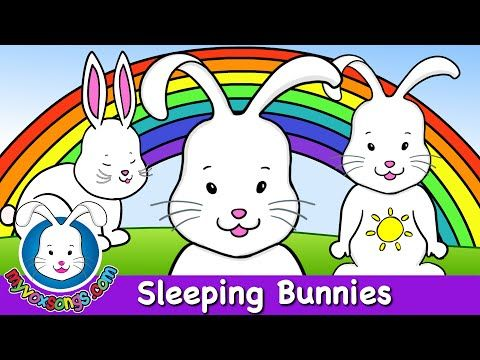 Sleeping Bunnies - Nursery Rhymes - HD | Nursery songs ...