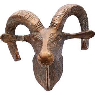 Bronze-Tone Ram Hanging Head