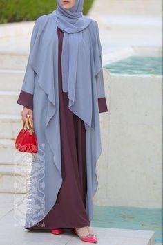 Dubai Style Abaya, light abaya, Eid Outfit Idea, Hijab