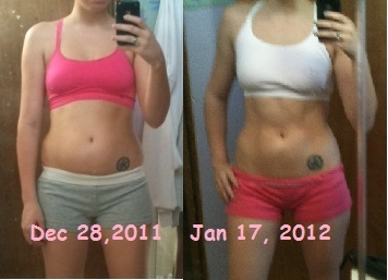 30 day shred results... wowit is a dvd that gives you a routine to do with her for about 15 minutes or so a day for 30 days. I did it before summer and it was pretty hard at first but you feel great about the results once you are done. My advice is just stick with it though, she can be hardcore if you are not used to working out.
