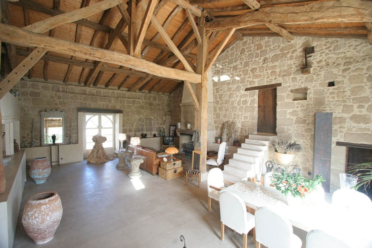 old stone barn renovation. Or add a stone wall accent