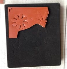 Creating a new rubber stamp from a die and excess rubber.  Craft with Kathleen: Recycled Stampin' Up! Materials Card & Blog Hop