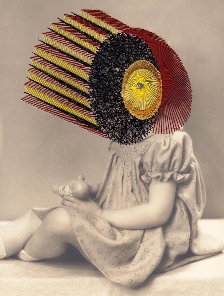 Les broderies sur photos anciennes de Maurizio Anzeri