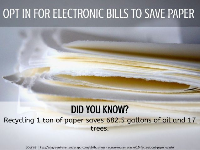 Ask for electronic bills
