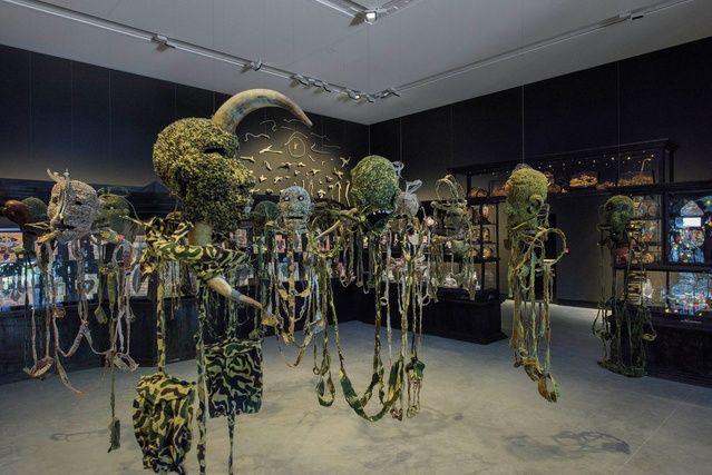 Dark presence: Fiona Hall exhibition inaugurates new Australian Pavilion | ArchitectureAU