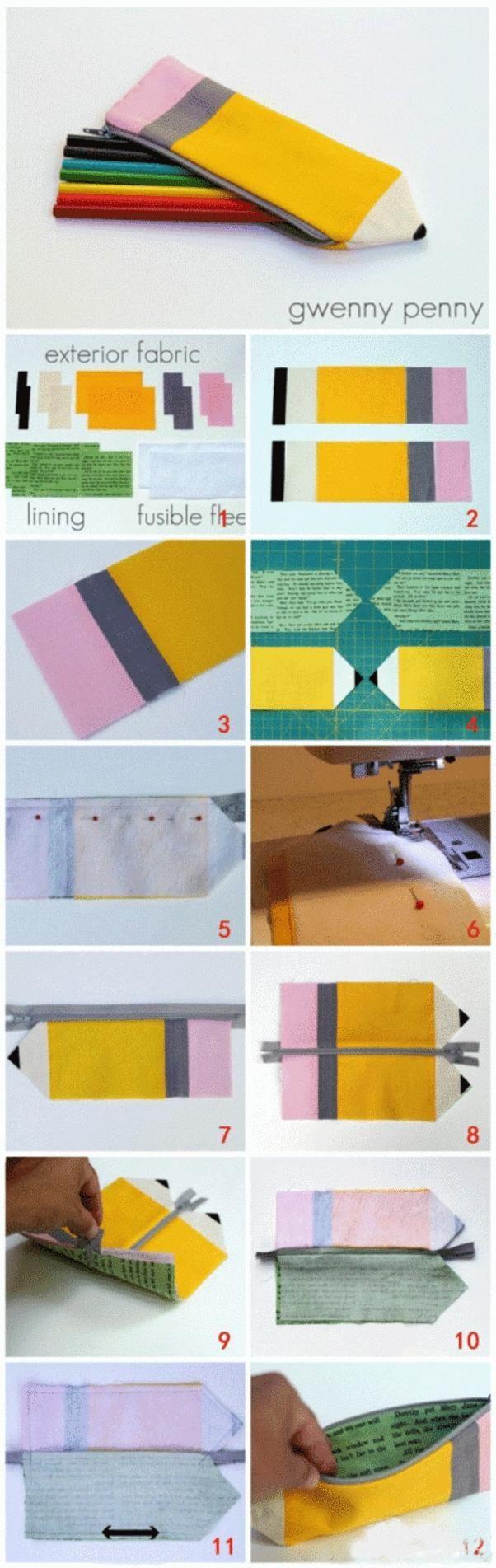 DIY Tutorial: Diy back to school / DIY Personalized Pencil Bag - Bead&Cord