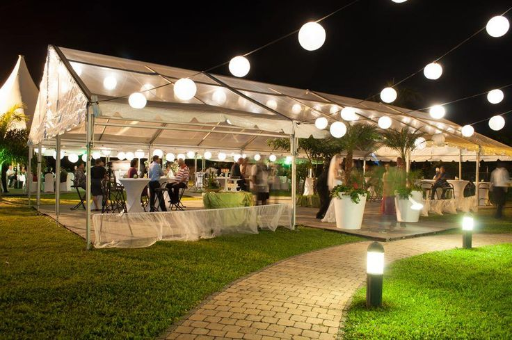 Wedding set-up on our terrace