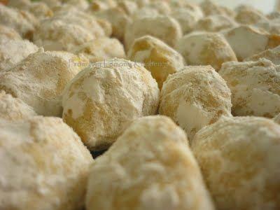 Kuih Makmur or Ghee Cookies with Peanut Filling