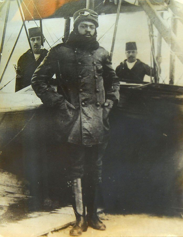 Turkish / Ottoman Pilot Ahmet Ali Efendi, World's First Black Pilot 1916 (He was Born in 1883 in Aydın, Originally from Nigeria)