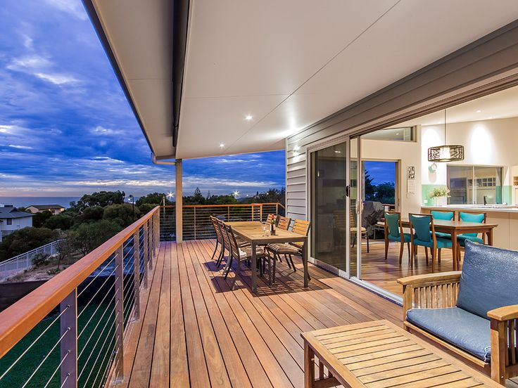 Beach House Balcony on Sunset, Timber Decking