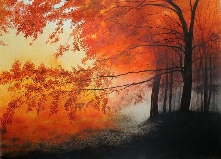 """""""Mad Red"""", a water colour painting by a fine artist Bhanupratap Khare"""