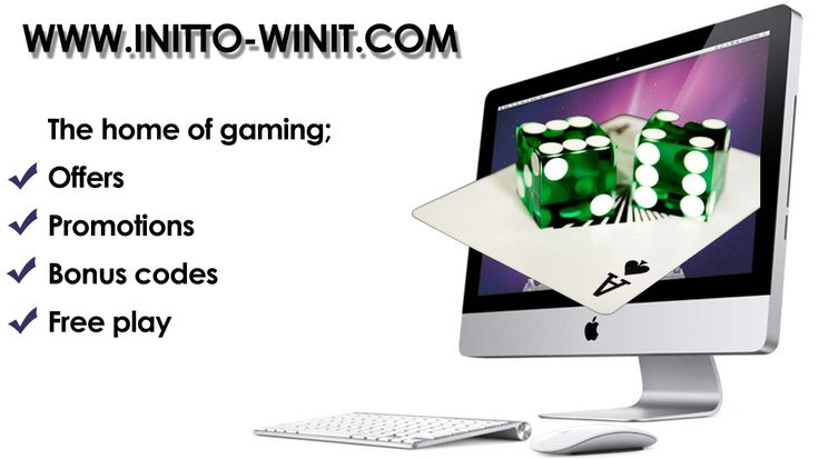 Play The Best Games Online For Free! Every Promotion Listed Here Is Giving Away Money For Free! No deposits needed, no catches, no tricks just the best games and offers you will find online! Poker, Bingo, Casino, Sport And Mobile Device Games-you choose! Visit http://www.freebonus-offers.com/ Good luck in your games www.initto-winit.com