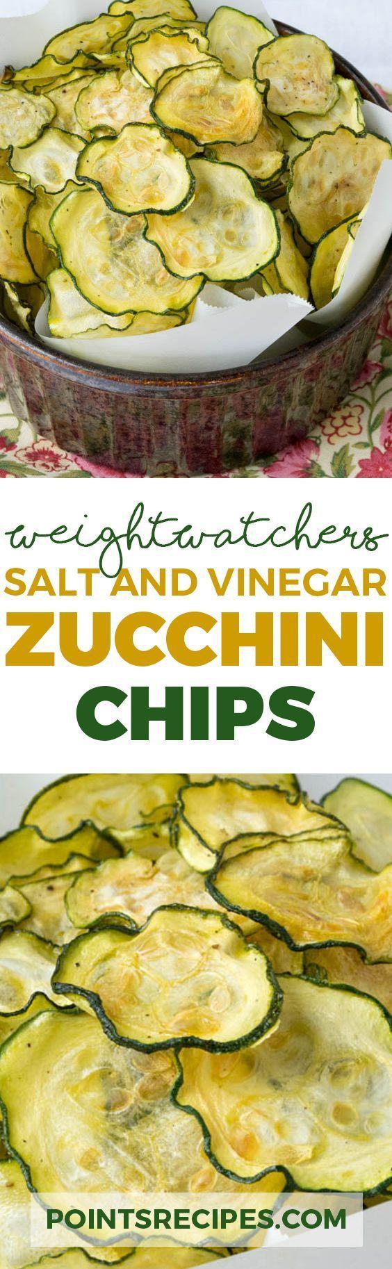 Salt and Vinegar Zucchini Chips (Weight Watchers SmartPoints)