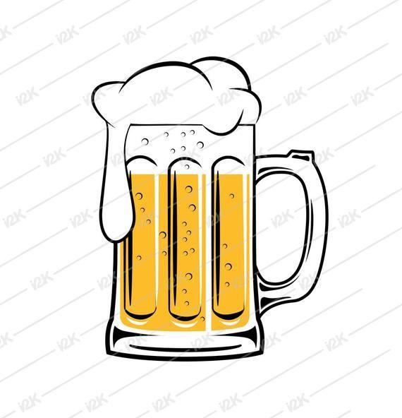 Beer Mug Vector Etsy Black Backgrounds Eps More Beer