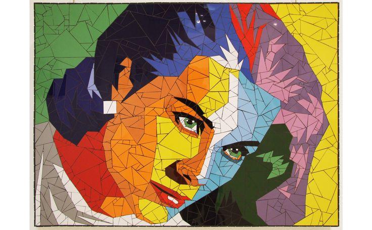 Grace Kelly mosaic portrait