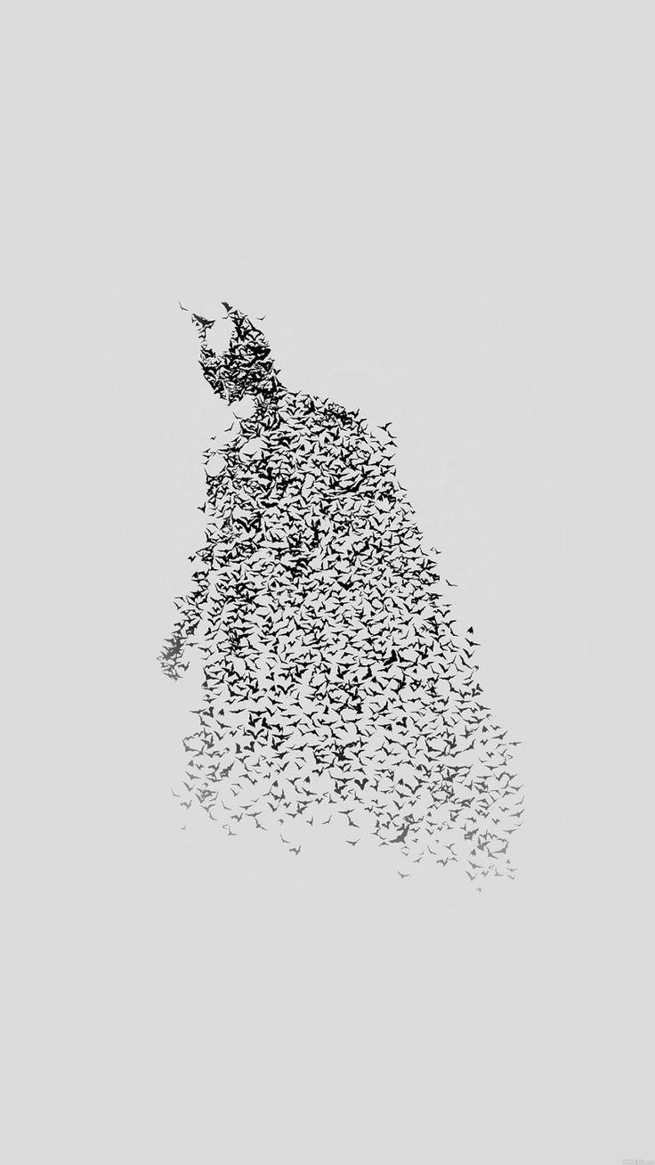 ↑↑TAP AND GET THE FREE APP! Art Creative Batman Movie Comics Minimalism Grey Black HD iPhone 6 plus Wallpaper