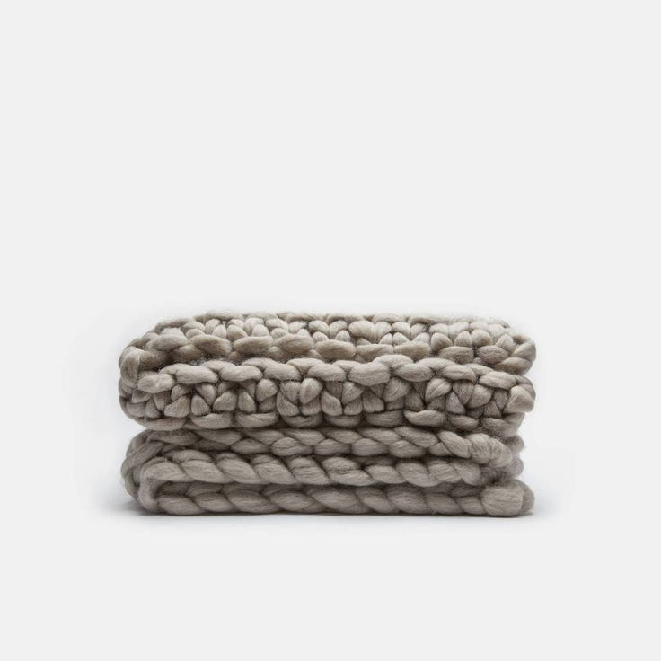 Collected by The Line — Corriedale Wool Knit Stitch Blanket — THE LINE