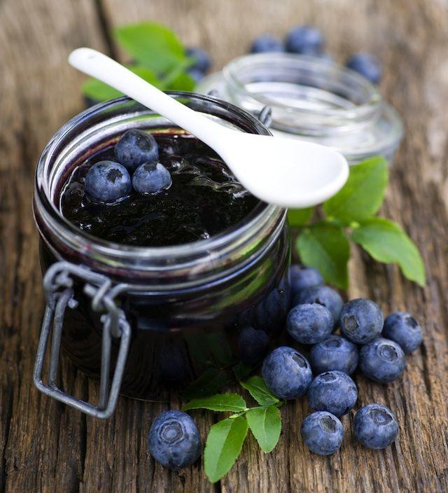 Blueberry bourbon jam - weer iets heel anders met blauwe bessen
