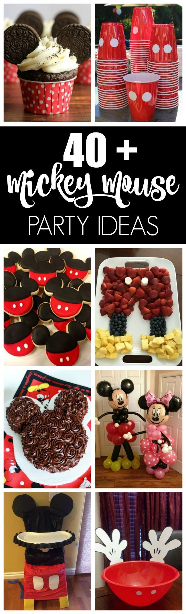 40+ Mickey Mouse Party Ideas | Pretty My Party. Tons of DIY ideas for the best Mickey party!