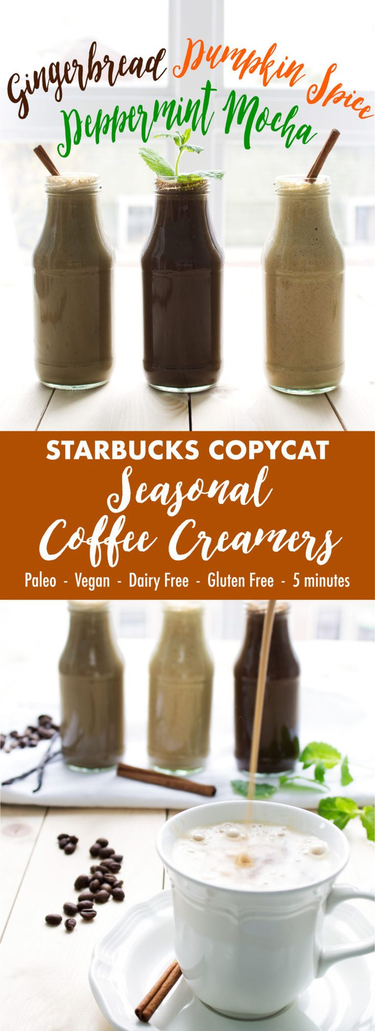 Starbucks Copycat Seasonal Coffee Creamers