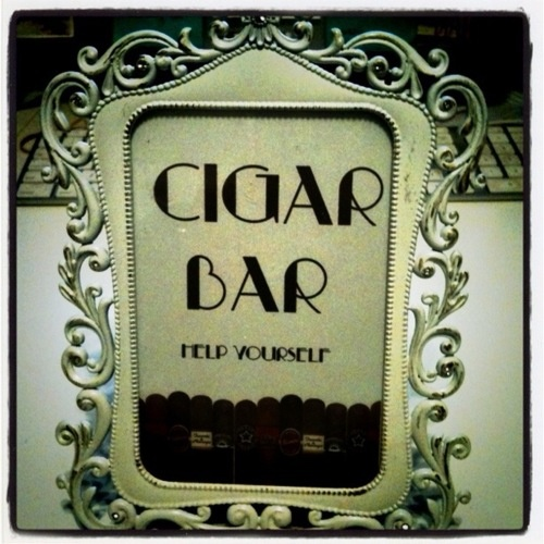 I wanted to have a cigar bar at the wedding!