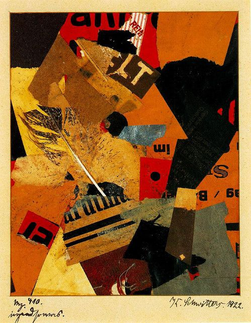 Kurt Schwitters (1887-1948) - 1922. Most of the works attempt to make coherent aesthetic sense of the world around Schwitters, using fragments of found objects