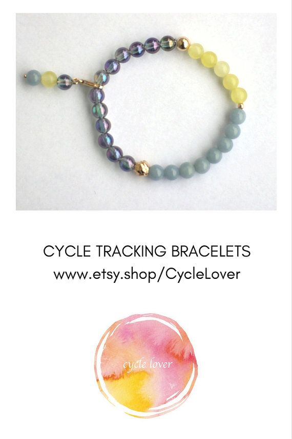 Cycle Tracking Bracelet  Menstruation Bracelet  Menarche Gift New Moon Gift  by CycleLover