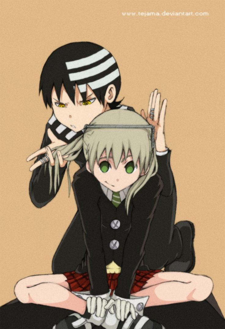 Soul Eater, Death the Kid and Maka. These two could have a complicated difficult but lovely cute relationship!!