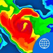 """NOAA World Radar (am ddim) - """" Free Rain & Weather Forecast - Hurricane Tracker""""  Fersiynau tebyg ar Android"""