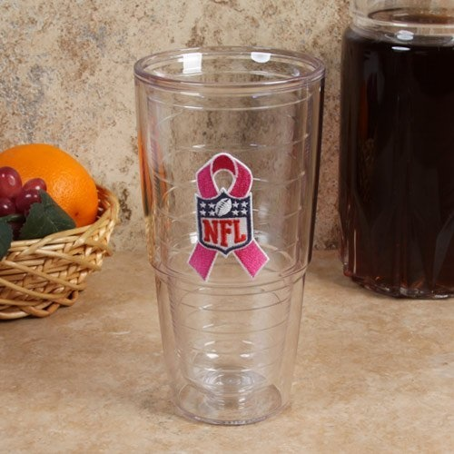 October is Breast Cancer Awareness Month.  NFL Tervis Tumbler NFL 24oz. Pink Ribbon Tumbler Cup: Sports & Outdoors