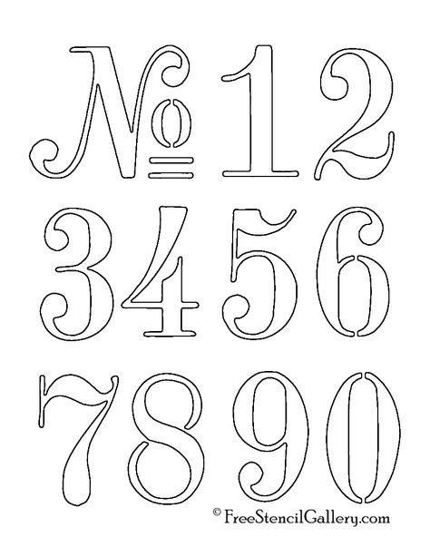 Sweet image throughout printable number stencils