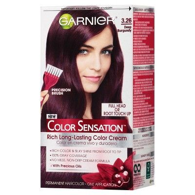 Garnier Color Sensation Hair Color Rich Long-Lasting Color Cream 3.26 Deep Burgundy
