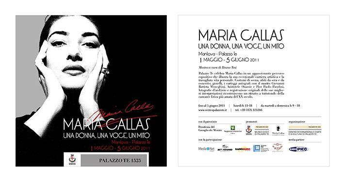 """Invito per la mostra della """"Callas"""" a Palazzo Te di Mantova."""